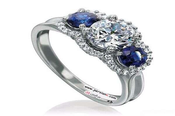 حلقه های نامزدی یاقوت آبی