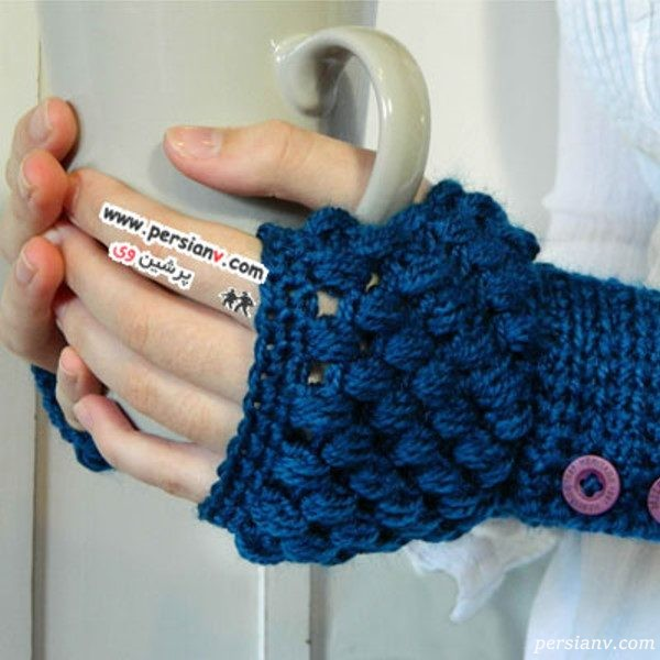 دستکش های بافتنی دخترانه