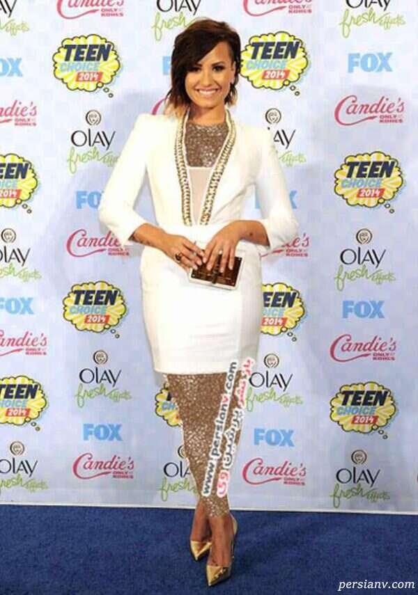 پوشش ستاره های مشهور در مراسم Teen Choice Awards 2014