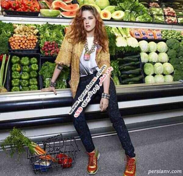 کریستین استوارت در مجله مدل