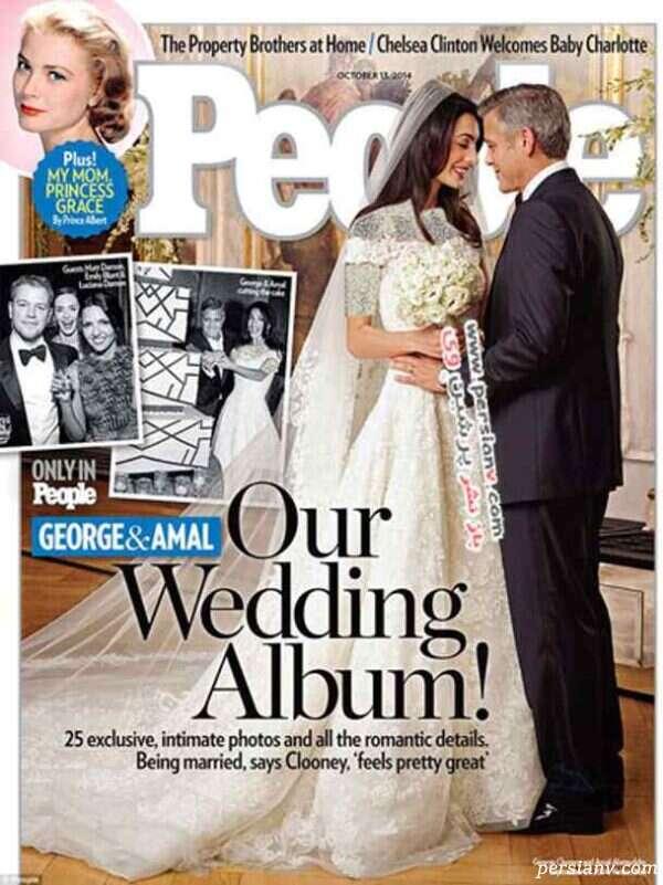 لباس عروس همسر جورج کلونی
