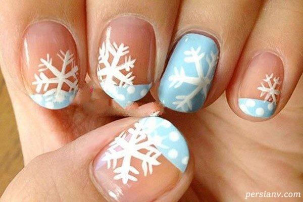 طراحی ناخن برای زمستان