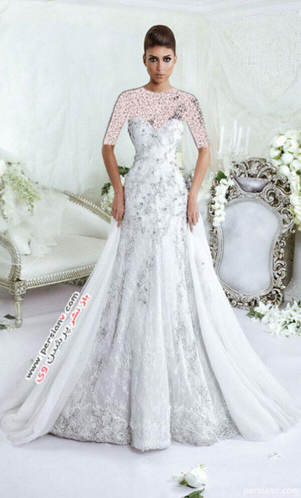 لباس عروس کریستالی
