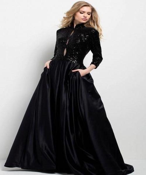 ۱۲ مدل مناسب از لباس مشکی زنانه سایز بزرگ + عکس