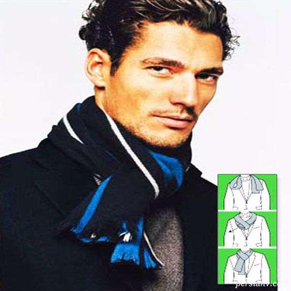 بستن شال گردن مردانه