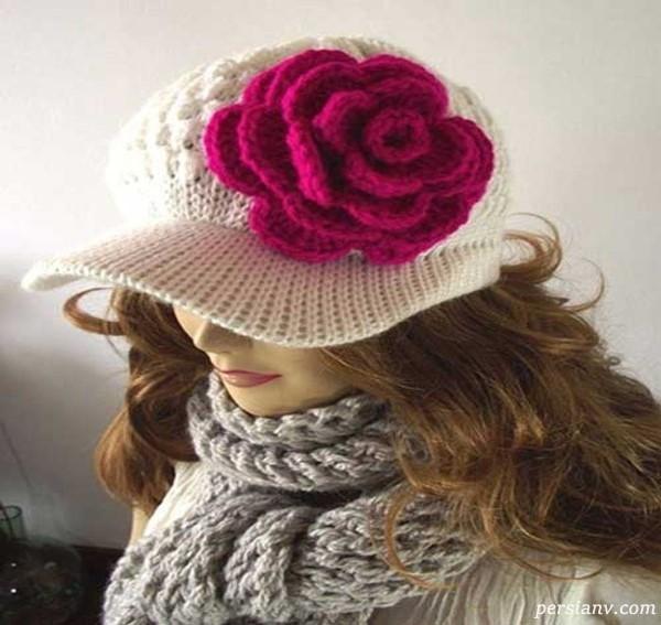 جدید ترین و زیباترین کلاه های بافت زنانه + تصاویر