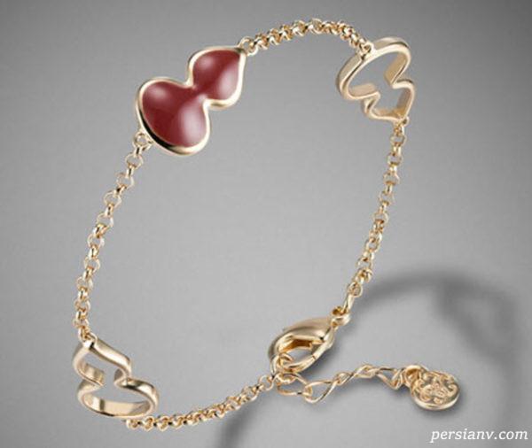 دستبند طلا و جواهرات