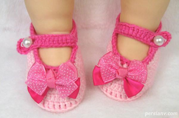 نمونه هایی از شیک ترین مدل پاپوش های نوزادی دخترانه