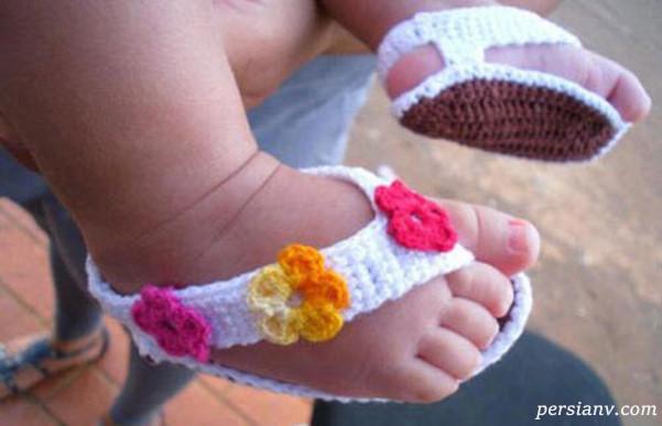 پاپوش های نوزادی دخترانه