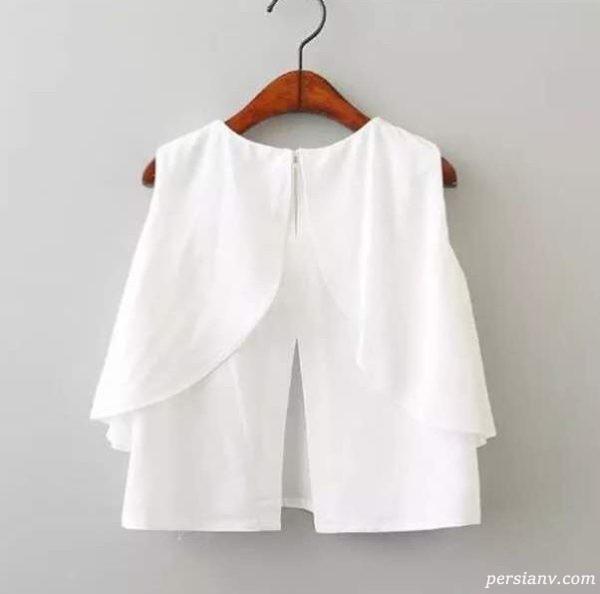 چگونه یک بلوز سفید بپوشیم
