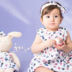 لباس نوزادی دخترانه با تم رنگی خاص