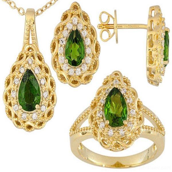 نیم ست های طلا و جواهر