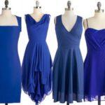 مدل لباس شب مجلسی به رنگ آبی + تصاویر