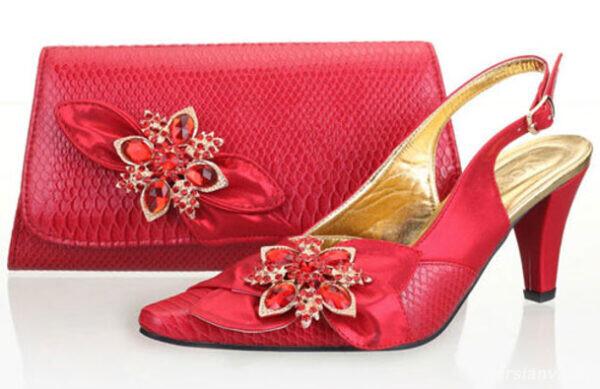 کیف و کفش قرمز و صورتی زنانه