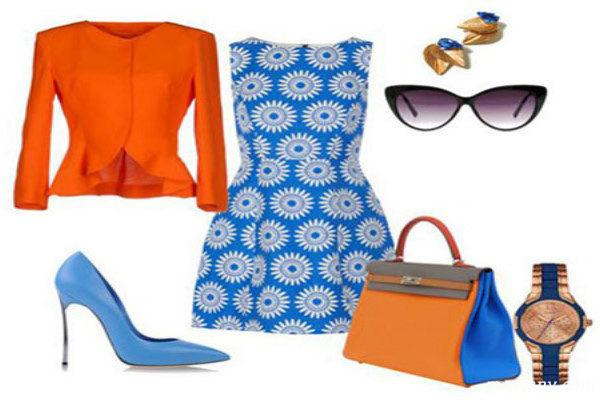 ست رنگی لباس تابستانه