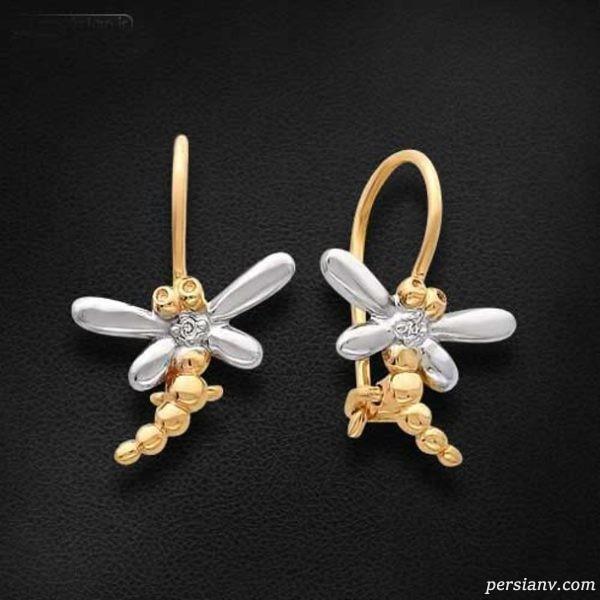 انواع مدل های جدید گوشواره طلا زنانه و دخترانه