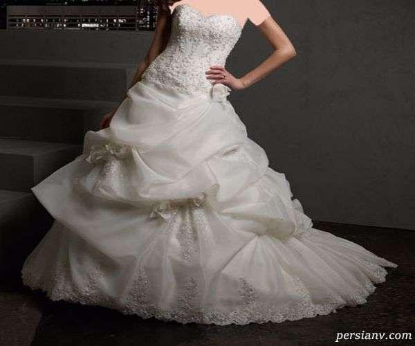 لباس عروس ساتن و گیپور
