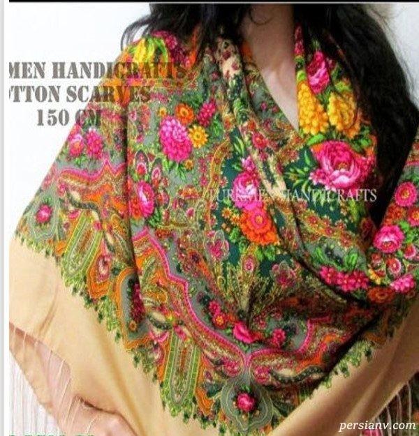 مدل روسری بلند سبک ترکمن ها