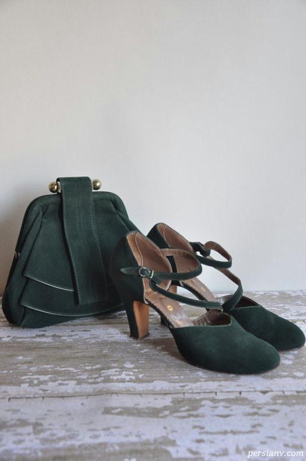 کیف و کفش سبز