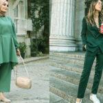 لباس های جذاب با ترکیب رنگ سبز