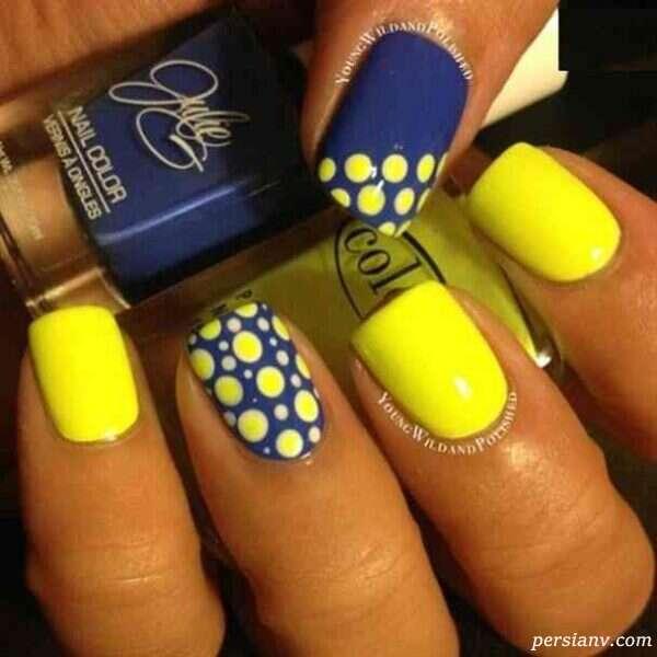 طراحی ناخن به رنگ زرد