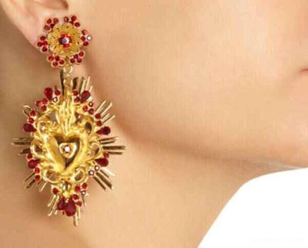 نمونه هایی از شیک ترین و زیباترین مدل گوشواره برندهای هندی