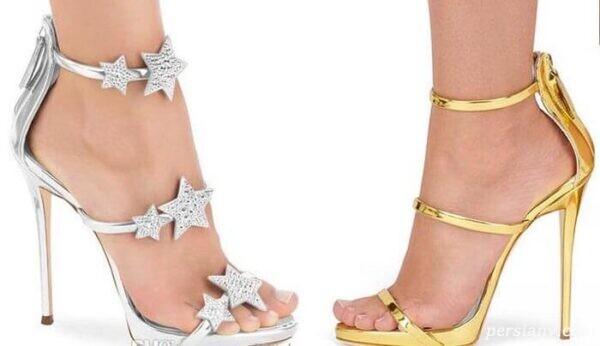 کفش مجلسی زنانه از جنس طلا