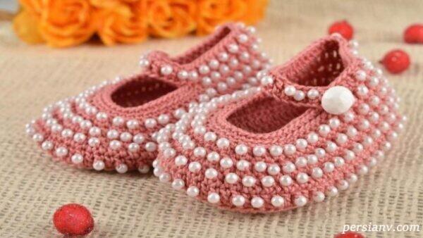 آموزش بافت کفش روفرشی زیبا