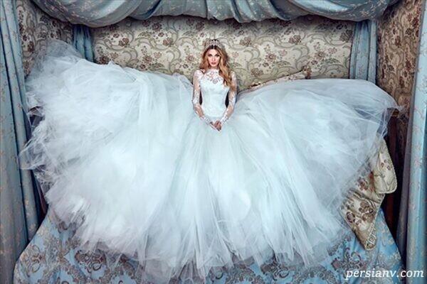 مدل لباس عروس های رمانتیک املیا اسپوزا