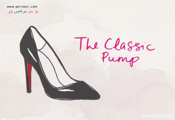 کفش پاشنه دار کلاسیک و ساده