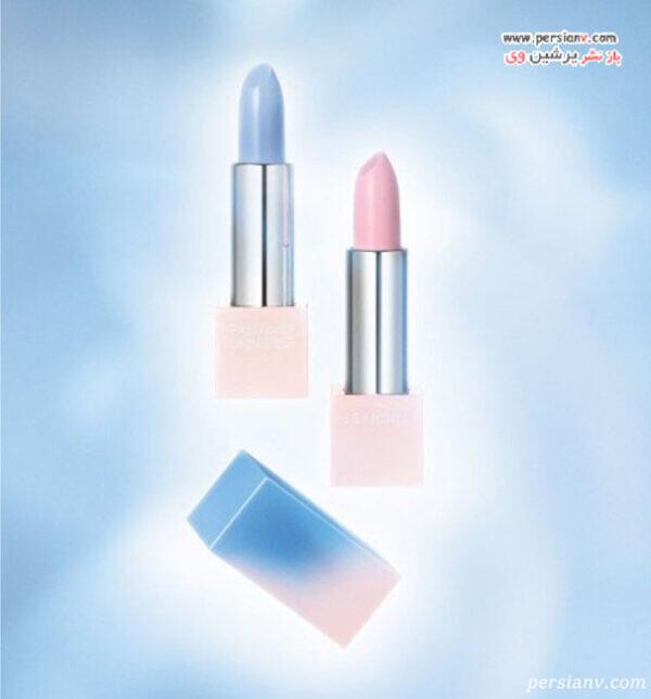 رنگ آبی و صورتی