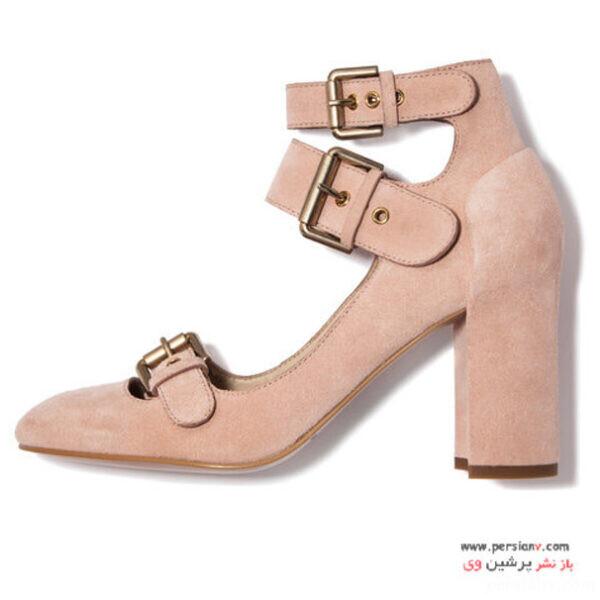 کفش پاشنه دار زیبا به رنگ صورتی