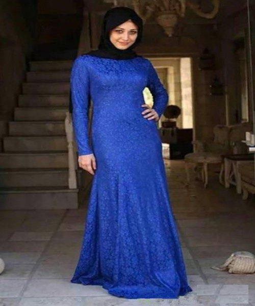 مدل لباس های دانتل و گیپور مجلسی کاملا پوشیده +عکس