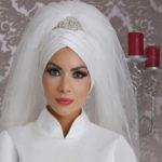 زیباترین مدل تاج و تور محجبه عروس بسیار شیک
