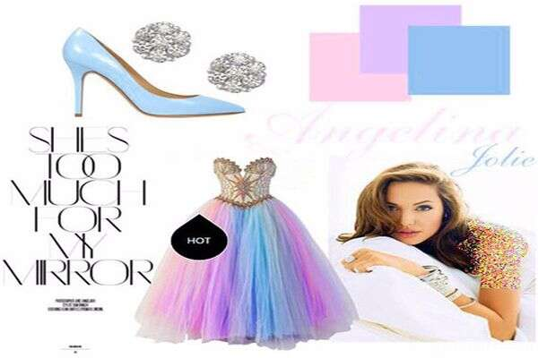 شیک ترین مدل لباس شب کوتاه به سبک آنجلینا جولی