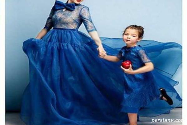 زیباترین مدل لباس مجلسی ست مادر و دختر