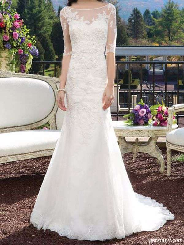 جدیدترین و شیک ترین لباس عروس های آستین دار