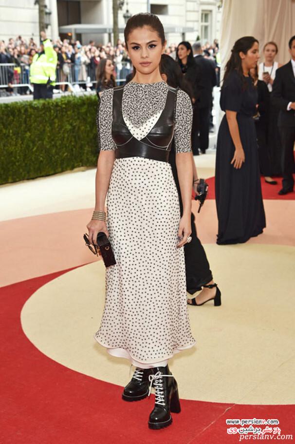 سلینا گومز در لباسی از لوئیز ویتن