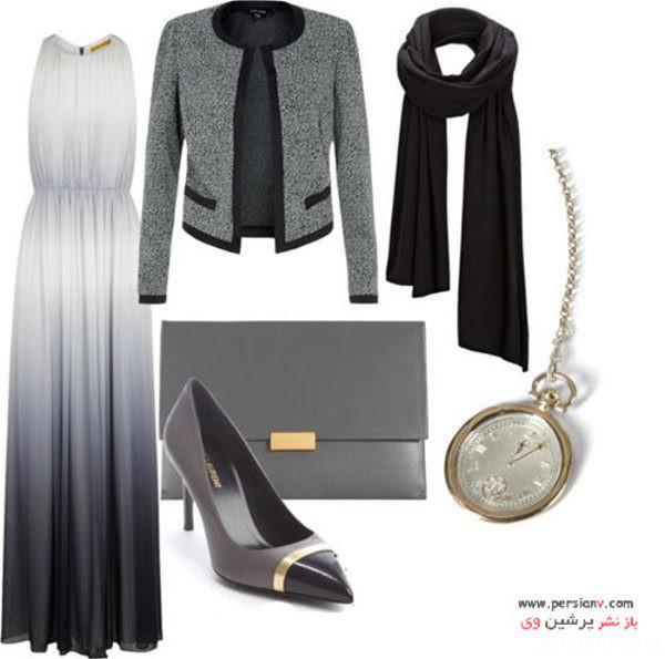 ست لباس مجلسی با حجاب
