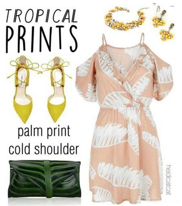 لباس زنانه طرح هاوایی