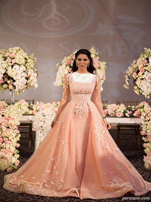 مدل لباس عروس و لباس نامزدی زیبای عروس مشهور لبنانی +عکس