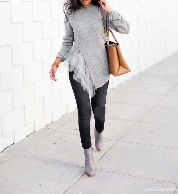 لباس شیک خاکستری