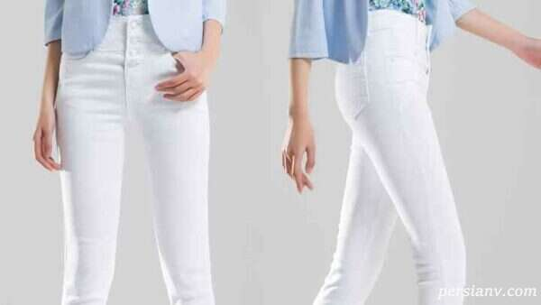 با ست لباس با شلوار جین سفید اندام خود را زیباتر خواهید دید