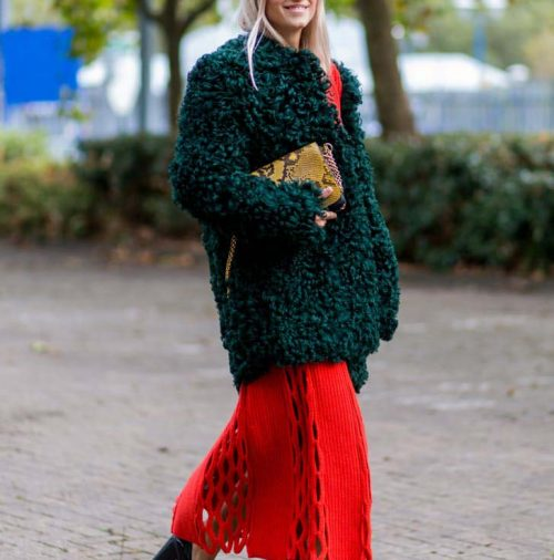ترکیب رنگ پاییزی لباس