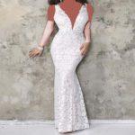 لباس مجلسی سفید بلند جذابیت خود را در مجالس دو چندان کنید