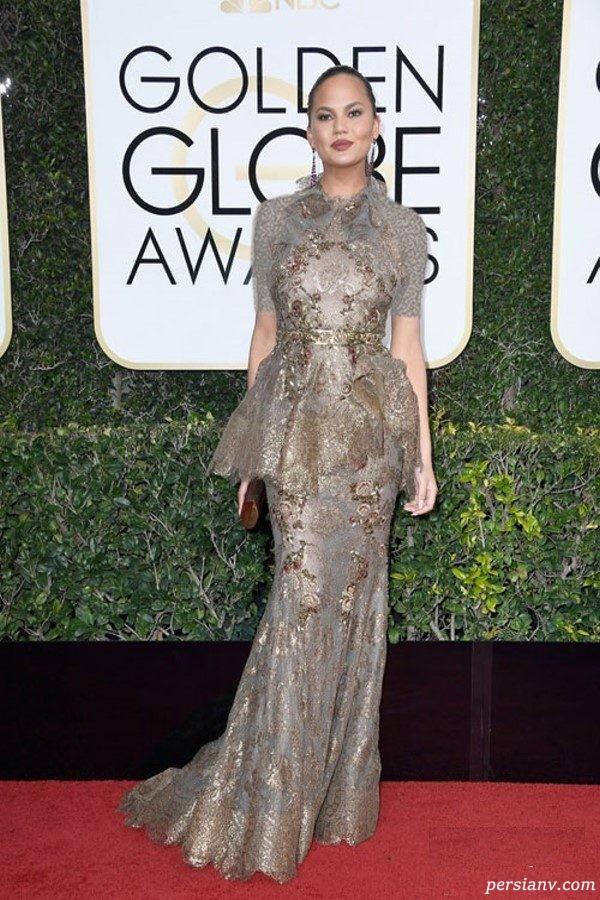 مدل لباس های زیبا در مراسم گلدن گلوب ۲۰۱۷ +عکس