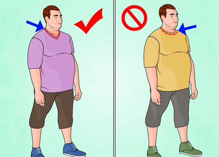 لباس پوشیدن آقایان چاق