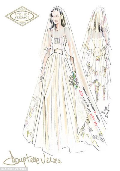 انتشار جزئیات لباس عروس آنجلینا جولی +عکس