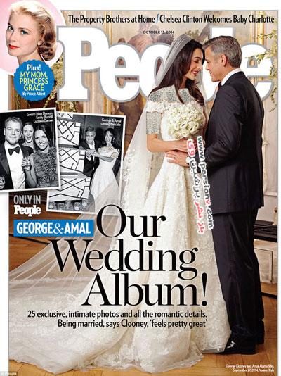 لباس عروس همسر جورج کلونی و جزئیات آن +عکس های دیده نشده