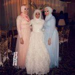 مدل لباس عروس های زیبا و جذاب بر تن عروس های کاملا باحجاب +عکس